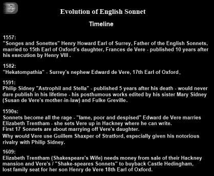 the evolution of the english sonnet The evolution of romantic poetry through the ages known as the father of english sonnets exploded in popularity in the late 16th and early 17th.